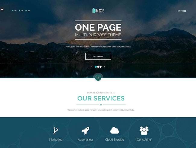 Onepage Blogger Templates 50 Best Creative Website Design Templates 2015 | 2015 ...