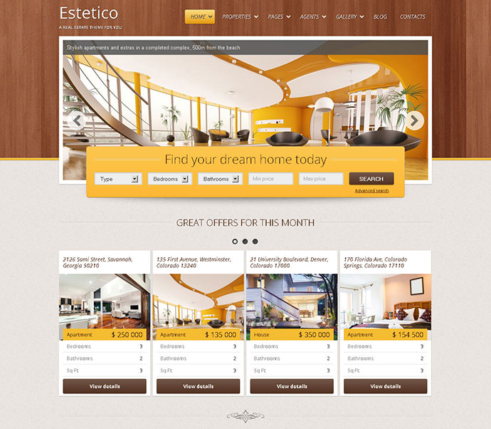 Estetico Real Estate HTML Template