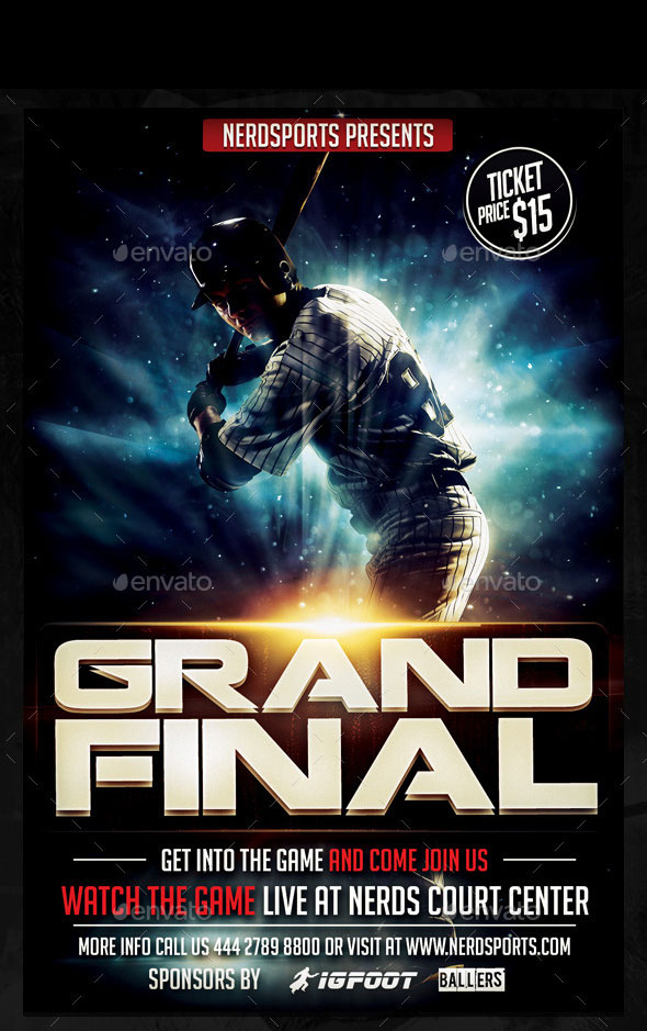 The Grand Final Baseball Sports Flyer
