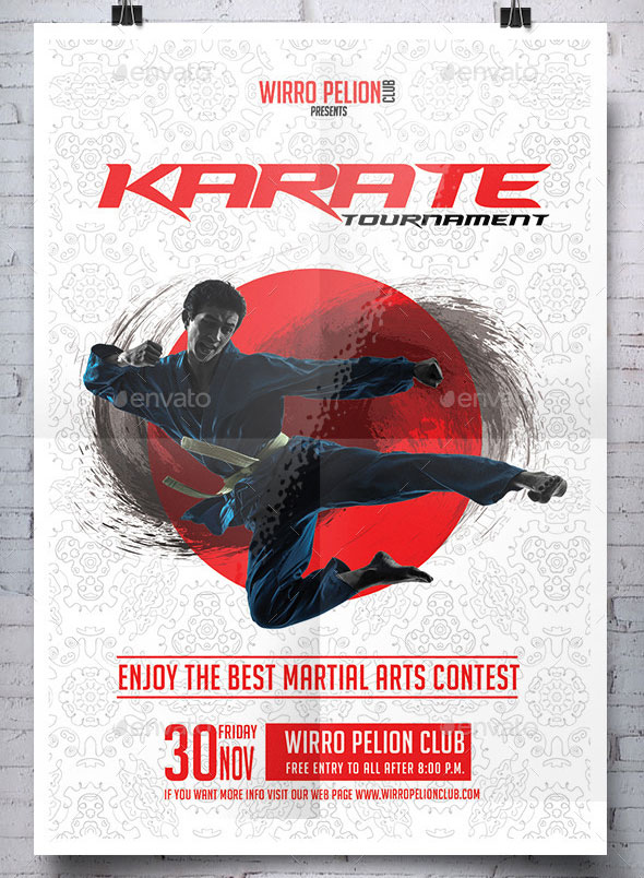 Karate Tournament Flyer Template