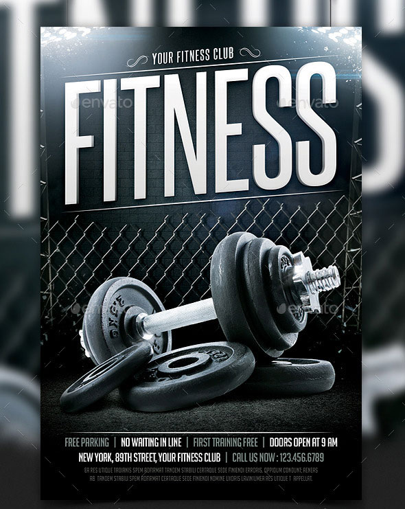 Fitness & Gym Sport Flyer Template