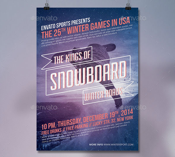 Winter Sports Creative Poster/Flyer Vol.2
