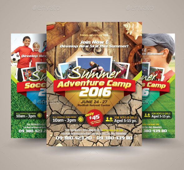 Sport or Adventure Camp Flyers vol.02
