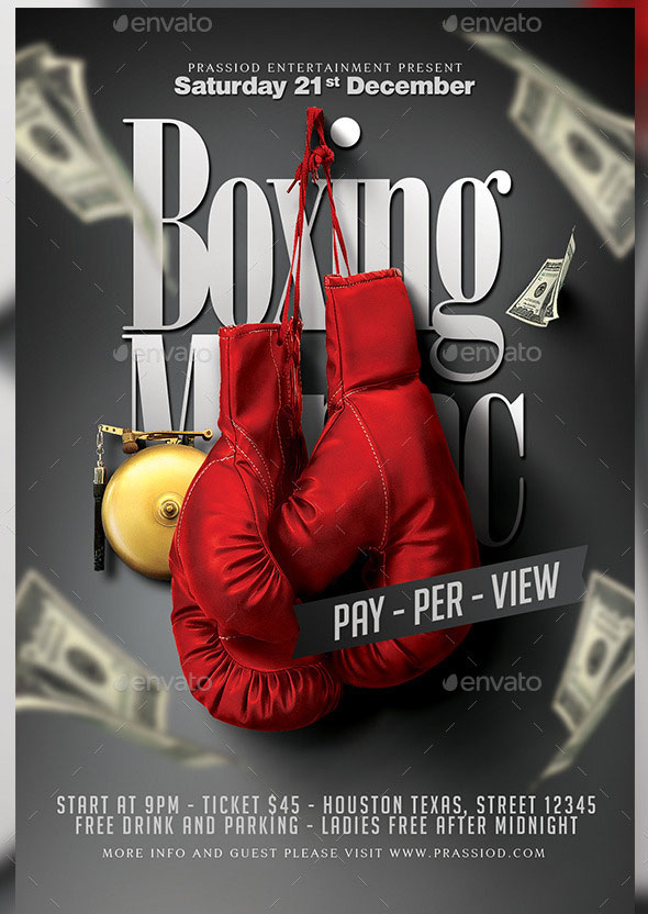 Boxing Maniac Flyer Template
