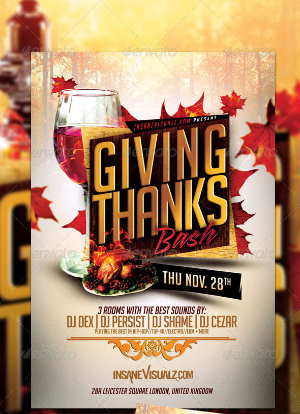 Giving Thanks Flyer Template