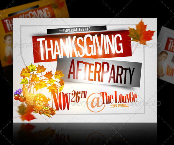 Thanksgiving Afterparty Party Flyer Template
