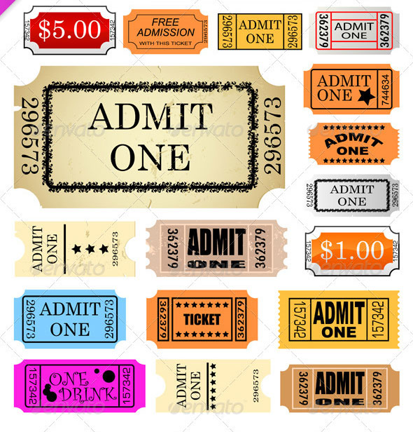 Awesome Ticket Template Designs Print IDesignow - Indesign raffle ticket template