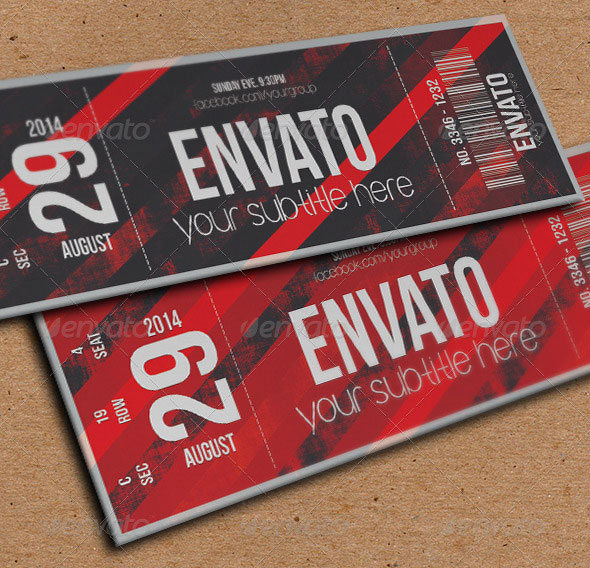 Awesome Ticket Template Designs Print IDesignow - Event ticket template photoshop