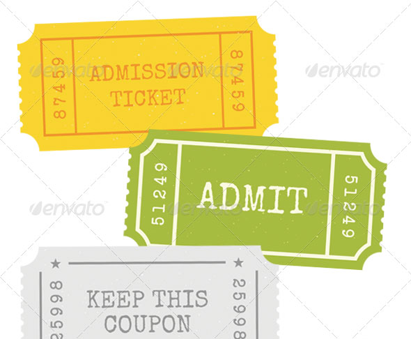 Admission Tickets - Vector