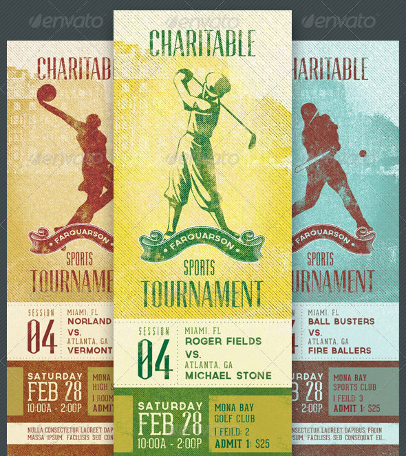 Charitable Sports Event Ticket Template