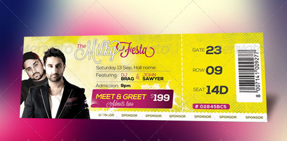 25 awesome ticket template designs print idesignow