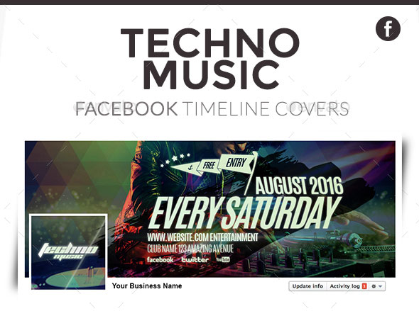 Facebook Timeline Covers - Techno Music