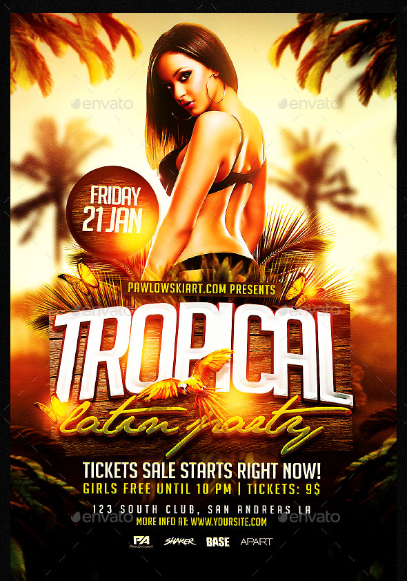 Tropical Latin Party Flyer Template