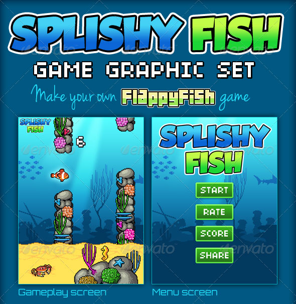 SplishyFish - Game Graphic Set