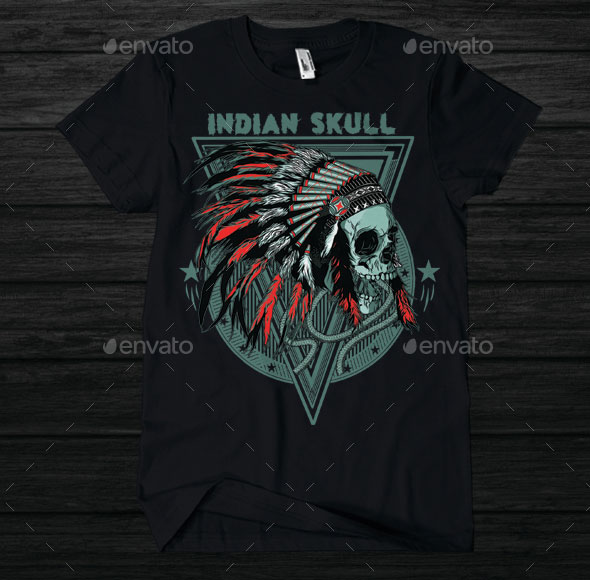 Indian Skull T-shirt design