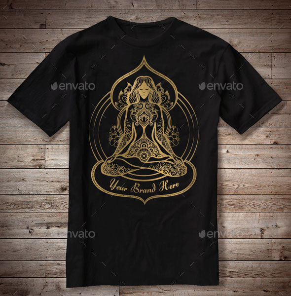 T-Shirt Illustration Yoga Theme