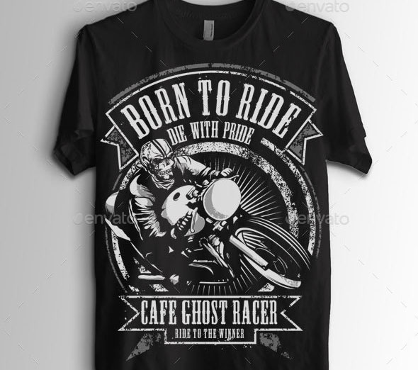 Ghost Cafe Rider Biker T-Shirt