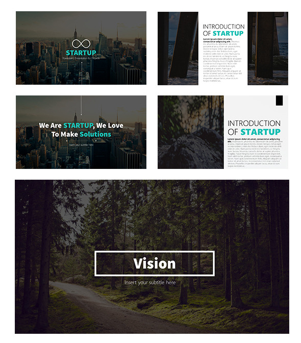 Startup - Clean Pitch Deck Powerpoint Template