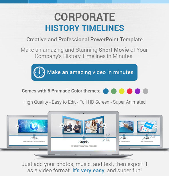 Corporate History Timelines PowerPoint Template