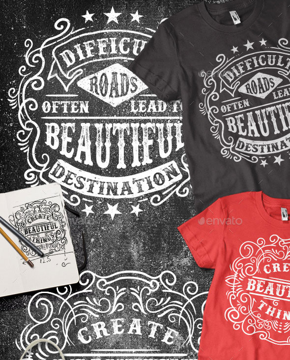 3 Typography T-shirt