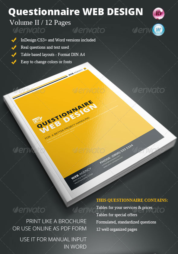 20 Best Web Design Brochure Templates Print Idesignow