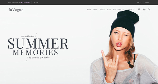 inVogue - WordPress Fashion Shopping Theme