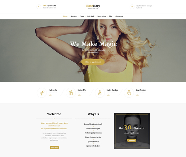 RoseMary - Hair, Beauty & Spa Salon Theme