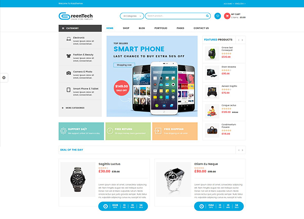 GreenTech - Shopping Responsive WooCommerce Theme