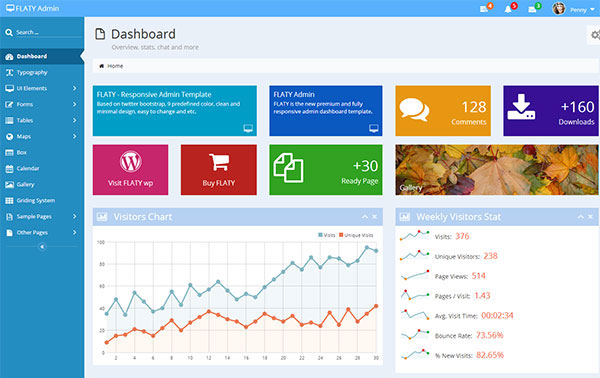 FLATY - Responsive Admin Template