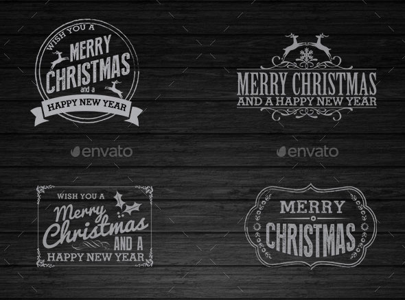 Christmas and New Year Vintage