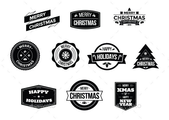 Christmas Badges Logo Pack