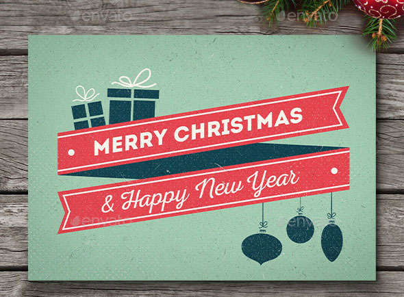 10 Retro Christmas Cards/Backgrounds