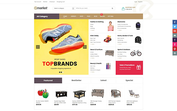 Emarket Multi-purpose WooCommerce WordPress theme