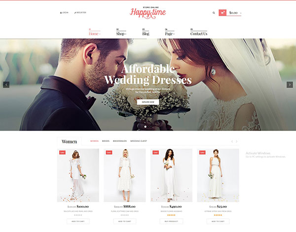 HappyTime - Wedding Woocommerce WordPress Theme