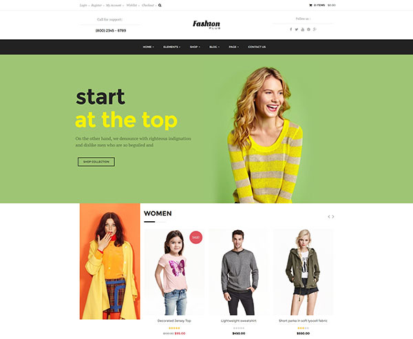 WooCommerce Fashion WordPress Theme - Fashion Plus