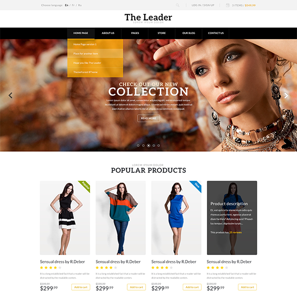 The Leader - Ecommerce Responsive M-Purpose Theme