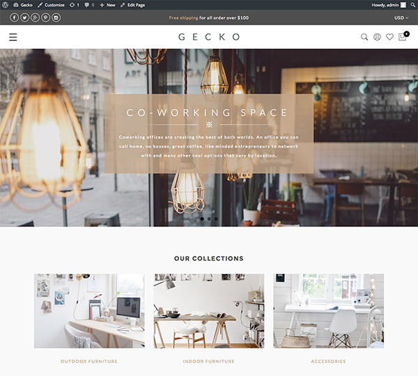 Gecko - Powerful Ajax WooCommerce Theme