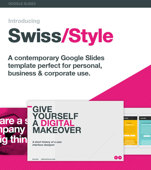 Swiss Style Google Slides Template