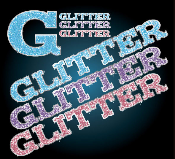 Glitter Illustrator Graphic Style