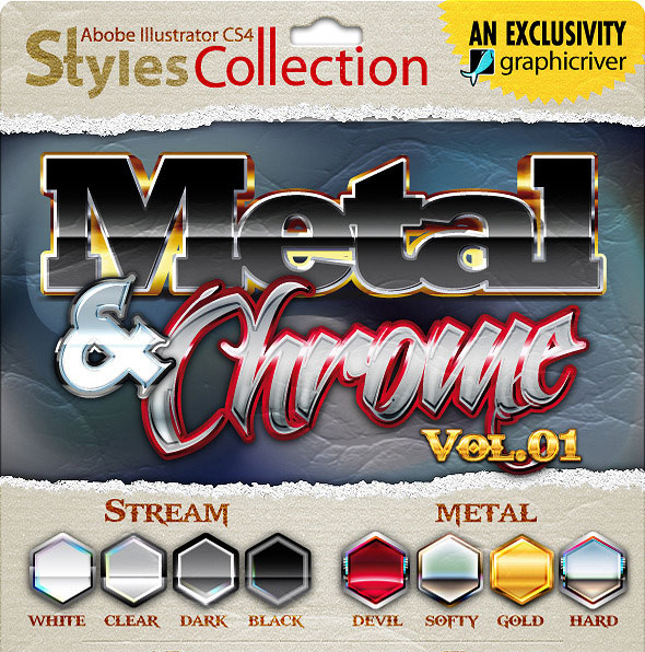 AI Styles Collection : Metal & Chrome #01
