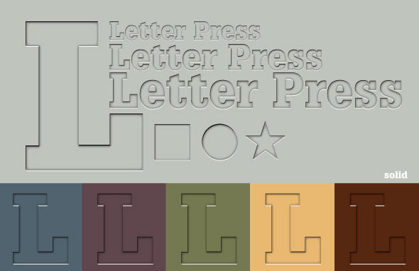 Letter Press Illustrator Graphic Style