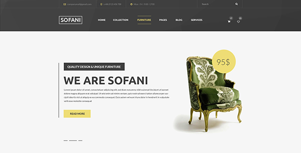 Sofani - Furniture Store PSD Template