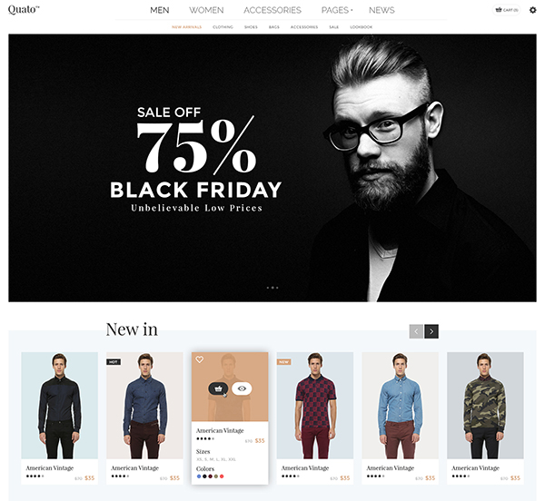 Quato - Fashion eCommerce PSD Template