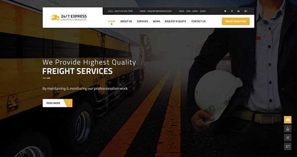24/7 Express  Logistics Services PSD