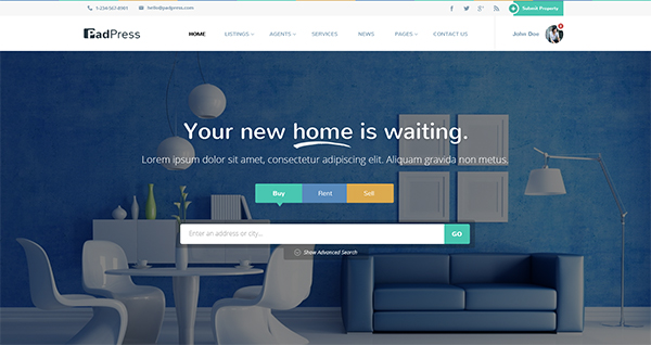 PadPress - Real Estate PSD Theme