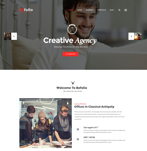 Befolio - Creative Multi-Purpose PSD Template