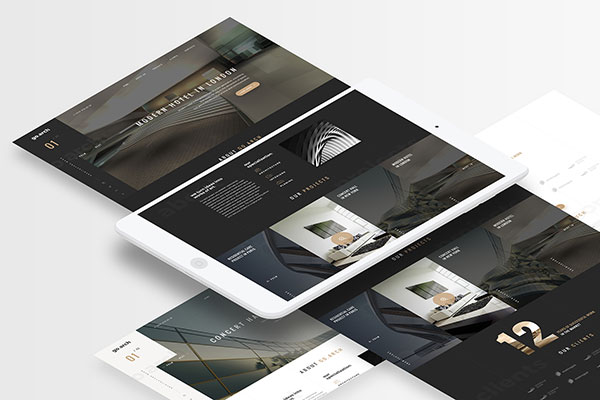 go.arch - Architecture PSD Template
