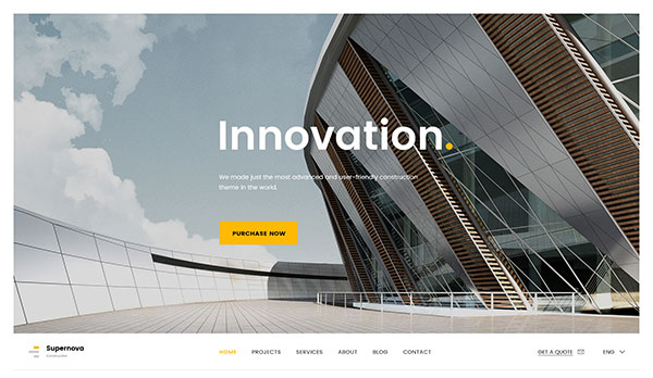 Supernova | Mutil-Concept Construction PSD Template