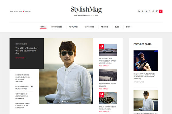 StylishMag - Elegant News & Magazine Theme