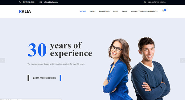 Kalia - Modern Business WordPress Theme